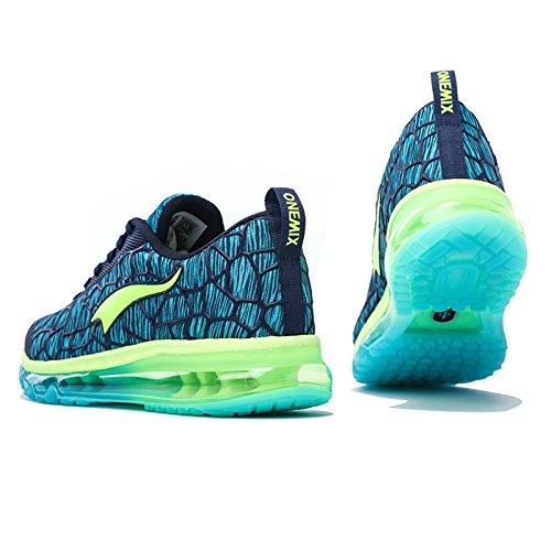 onemix Hombre Cojín de aire Zapatillas de running Azul oscuro