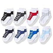 Hudson Baby Basic Socks, 8 Pack, Boy Sneakers, 0-6 Months