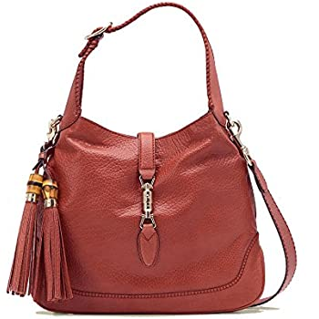 3a7ec4b74507b1 Gucci Pink Coral New Jackie Leather Shoulder Bag With Bamboo Tassel Large