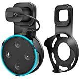 Echo Dot Wall Mount Holder, Celover Outlet Wall Mount Holder for Echo Dot 2nd Generation, A Space-Saving Solution for Your Smart Home Speakers without Messy Wires or Screws (Black, 1Pack)