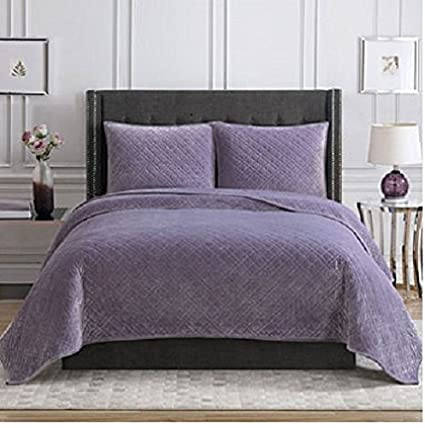 christian siriano luxury 3 pc true velvet bedding set in queen size - Velvet Bedding