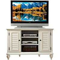 Home Styles 5543-07 Bermuda Corner TV Stand, Brushed White Finish