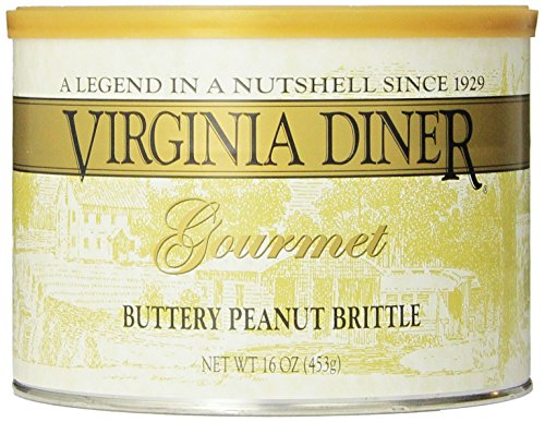 Virginia Diner Peanut Brittle, Buttery, 16-Ounce