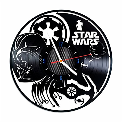Star Wars vintage vinyl record wall clock, nice home decor, best gift idea