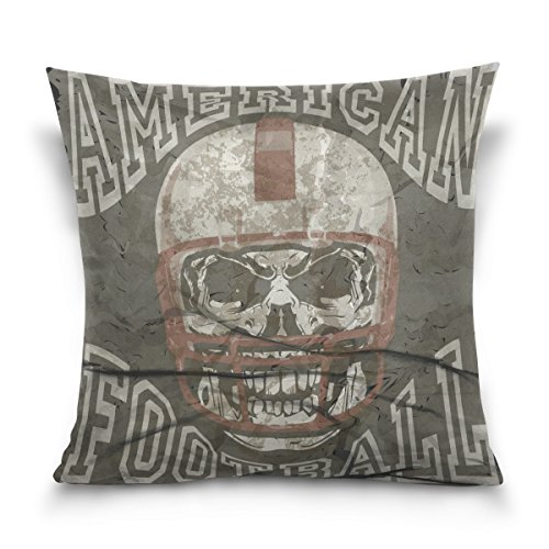 GIOVANIOR Vintage Skull American Football Print Decorative Throw Pillowcase Cushion Pillow Cover 20