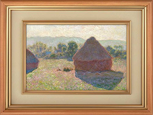 Creative 3D Visual Effect Wall Mural Haystacks Midday by Claude Monet Peel Stick Wall Decor