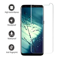 Galaxy S8 Screen Protector, Caketi High Definition 3D Full Coverage Tempered Glass Screen Protector for Samsung Galaxy S8 by Caketi