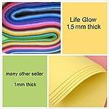 Life Glow DIY Polyester Soft Felt Fabric Squares