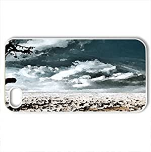 dry - Case Cover for iPhone 4 and 4s (Deserts Series, Watercolor style, White) by lolosakes