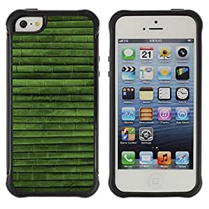 CAZZ Rugged Armor Slim Protection Case Cover Shell // Green Nature Bamboo Pattern // Apple Iphone 5 / 5S