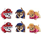 """Nickelodeon Paw Patrol Party Pack - Set of 6, two Chase, two Skye, two Marshall, 5"""" Size Stuffed Animal Toys"""