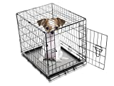 Milliard Portable Foldable Metal Dog Crate with Divider For Two Pets and Floor Pan – 23″L x 17″W x 20″H Review