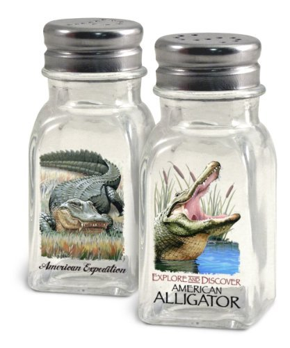 (American Expedition Glass Salt and Pepper Shaker Sets (Alligator))