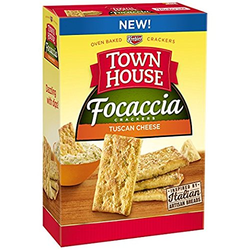 Town House Tuscan Cheese Focaccia Crackers 9 oz ( 2 Pack)
