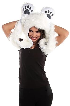 Amazon.com: Faux Fur Animal Sombreros Campanas oso polar de ...