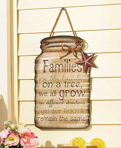 Family Sentimental Tin Mason Jars Sign
