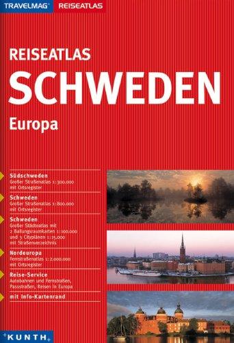 Reiseatlas : Schweden 1:300.000 (+Europa)