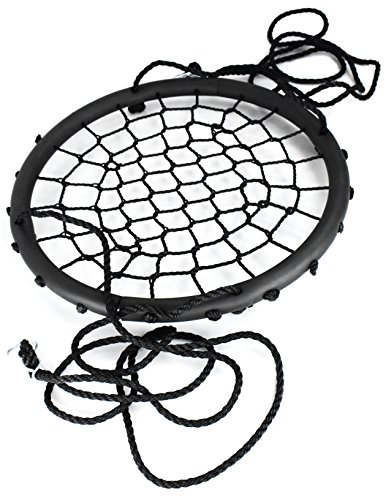 Sorbus Spinner Swing – Kids Indoor/Outdoor Round Web Swing – Great for Tree, Swing Set, Backyard, Playground, Playroom – Accessories Included (40'' Net Seat) by Sorbus (Image #7)