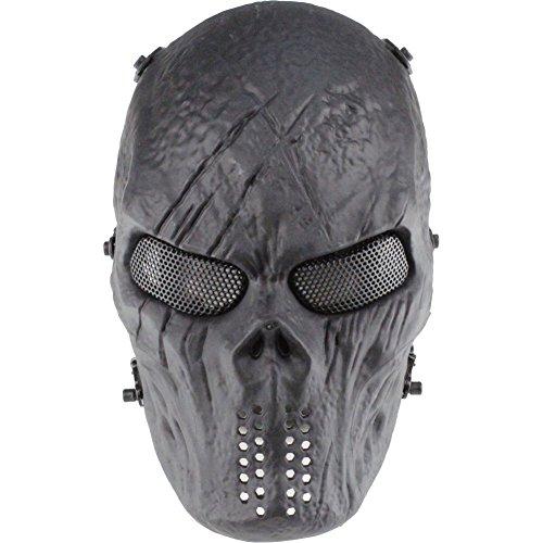 Fashion Shop Face Predator Airsoft/BB Gun/CS Game Thermoplastic polyurethanes(TDR) Tactical Skull Mask (Black) -
