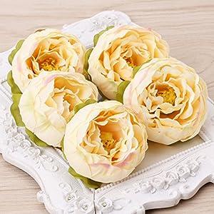 BetterM 5 Pcs Artificial Flower Heads - Fake Flowers Craft DIY for Home Garden Wedding Party Decoration 69