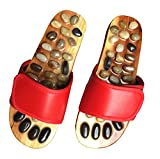 JOINTUP Women Thiatsu Massage Slippers in Natural Stone for Foot Plantar Tens Acupoints Reflexology Therapy for Health Care(US 9, Red) Review