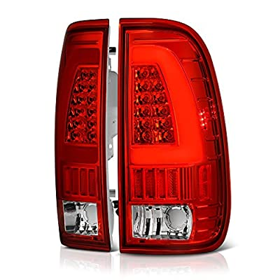 VIPMOTOZ Neon Tube LED Tail Light Lamp Assembly For 1997-2003 Ford F-150 & 1999-2007 Ford Superduty F-250 F-350 Pickup Truck