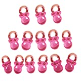 50 Pieces Pink Baby Mini Pacifiers for Baby Shower Baby Party | Gift Tokens Return Presents for Naming Ceremony Kids Parties | Table Decoration