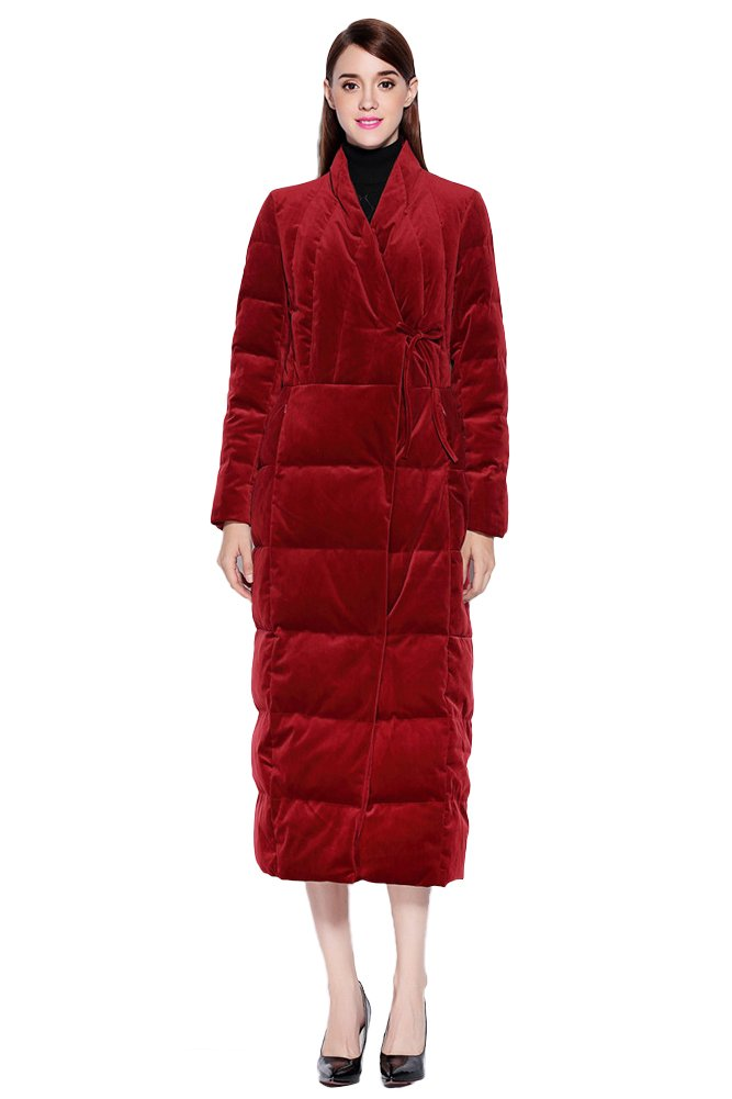 queenshiny New Style Women's Winter Outwear Warm Long Downcoat Red S(4-6) by Queenshiny