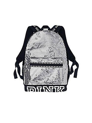 Victoria's Secret Campus Backpack Glacier Grey Sequin/ Logo -