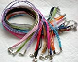 "100pcs Mixcolor 4+1 Voile Ribbon Necklace Cord 18"" w/Extender~Jewelry Making~"