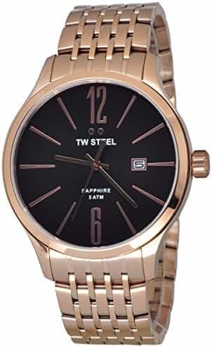 Men's TW Steel Slimline Black Dial Watch by Tw Steel