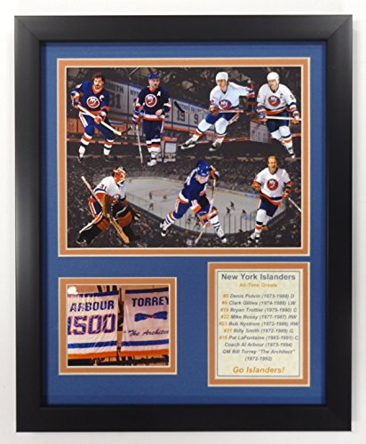 Legends Never Die NHL New York Islanders All Time Greats Double Matted Photo Frame, 12