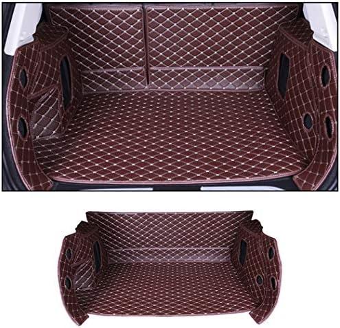 ALLYARD Kofferraummatte Für Sko da Rapid 2014-2019 Allwetter-Schutz XPE Leder Kofferraumwanne Kofferraumschutzmatte Kaffee