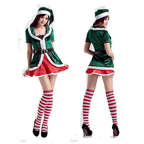 Xmas Elf Costumes (LifeWheel New Christmas Xmas Helper Elf Costume Outfit for women)