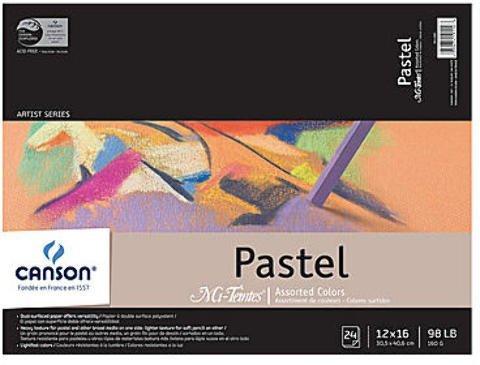Pad Mi Teintes - Canson Mi-Teintes Pastel Assorted Pad (12 In. x 16 In.) 1 pcs sku# 1830888MA
