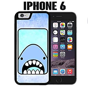iPhone Case Cute Cartoon Shark Quirky Fun Funny Cool for iPhone 6 Plastic Black (Ships from CA)