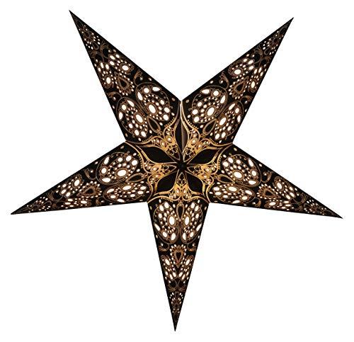 GalaxyArts - Maharani (Black) - Paper Star Lantern - Handmade -