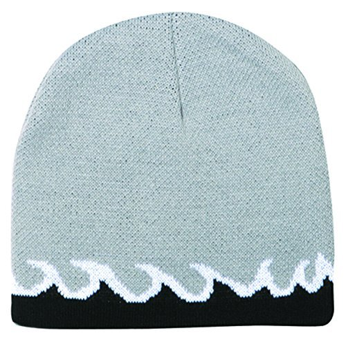 Flame Design Acrylic Knit 8 Reversible Beanie