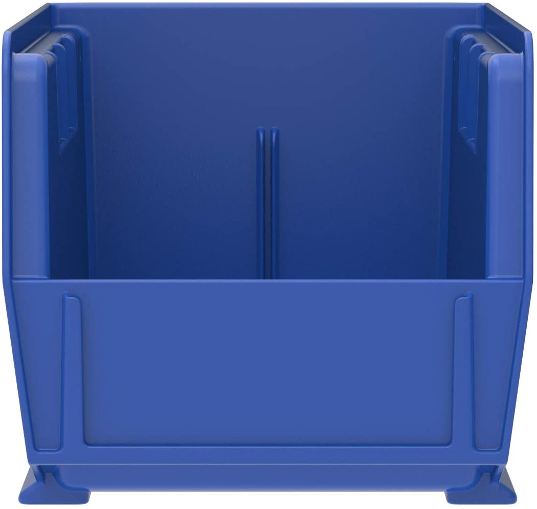 Pack of 12 Blue 9-1//4-Inch by 6-Inch by 5-Inch Akro-Mils 30237BLUE Plastic Storage Stacking Hanging Akro Bin
