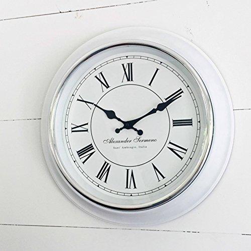 white vintage wall clock - 3
