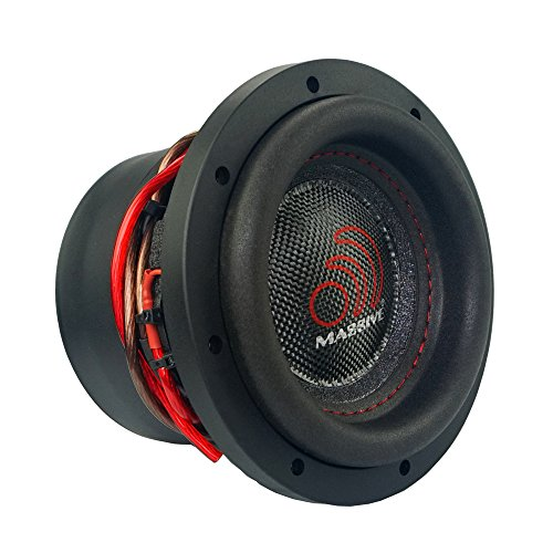 Massive Audio HippoXL64-6 Inch Car Audio 1200 Watt Hippo Series Competition Subwoofer, Dual 4 Ohm, 2 Inch V.C
