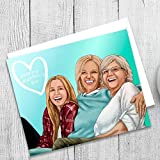 Customized Hand Drawn Portrait For Mom - Cute Mothers Day Gifts - Meaningful Surprise Ideas From The Kids