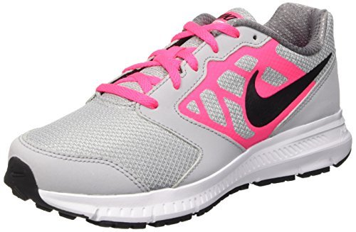 Nike Girls' Downshifter 6 (Little ), Wolf Grey/Hyper Pink/White/Black, 6.5 Big Kid M