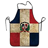 BRIGHT Men&Women Dominican Republic Flag Retro Chef&Cook Kitchen Bib Apron Waterproof Perfect For Cooking,Baking,Crafting,BBQ