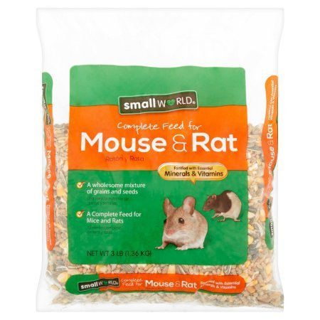 Small World Carnival Complete Feed For Mice & Rats, 3 lb | Made with de-odorase, a source of yucca, for improved palatability