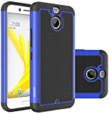 HTC Bolt Case, OEAGO HTC Bolt Case [Shockproof] [Impact Protection] Hybrid Dual Layer Defender Protective Case Cover for HTC Bolt - Blue