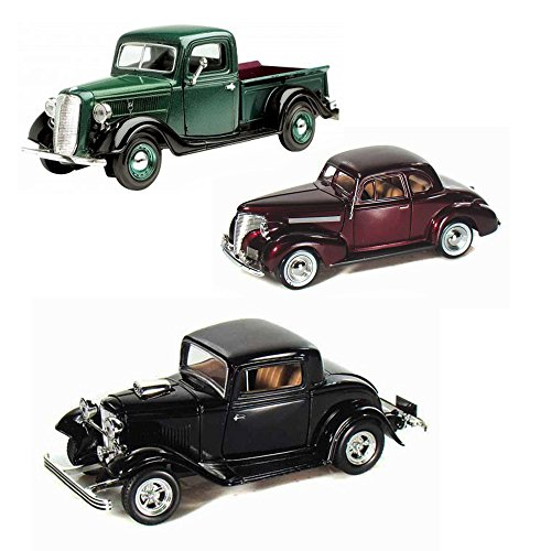 Best of 1930s Diecast Cars - Set 9 - Set of Three 1/24 Scale Diecast Model Cars (1930 Truck)