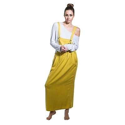 Aroma Jupe Salopette - Moutarde Robe de Salopette Longue One Size NINAMUSTARD