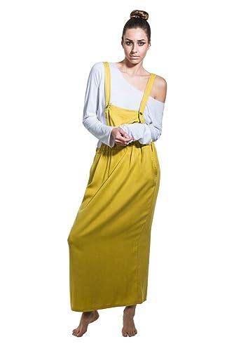Aroma Vestito Salopette - mostarda Bib overall dress con T-shirt One Size NINAMUSTARD