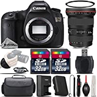 Canon EOS 5DS DSLR 50.6MP Full-Frame CMOS Camera + Canon EF 16-35mm f/2.8L II USM Lens + 64GB Storage + Wrist Grip Strap + Case + UV Filter + Card Reader + Air Cleaner - International Version